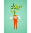 Carrot Diet Colorful Inspirational Vegetable vector image