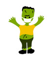 cartoon character for halloween in covid-19 vector image vector image