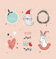 christmas and new year hand drawn design elements vector image vector image