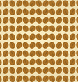 Coffee beans on a brown background vector image vector image