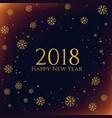 dark snowflakes 2018 new year season background vector image vector image