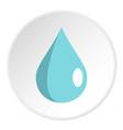 drop icon circle vector image