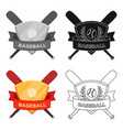 emblem baseball single icon in cartoon style vector image vector image