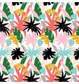 exotic leaf pattern colorful design vector image vector image
