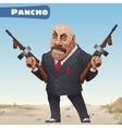 Fictional cartoon character - bandit Pancho vector image vector image
