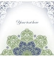 Frame With Baroque Ornaments Victorian Border vector image