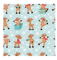 funny reindeers background vector image vector image