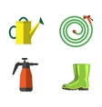 Garden equipment flat set vector image vector image