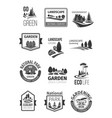 gardens and parks landscape design icons vector image vector image
