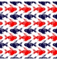 Grunge hand painted red and blue fishes stripe on vector image
