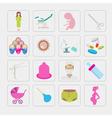 Gynecology and pregnancy icon set Motherhood vector image