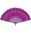 hand fan ornate with floral decoration pattern in vector image