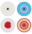 japanese umbrella set vector image