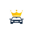 king automotive logo icon design vector image vector image