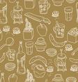 Kitchen stuff seamless pattern vector image vector image