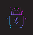 lock dollar money icon design vector image