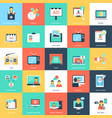 media and advertising flat icons vector image vector image
