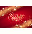 merry christmas elegant design template gold fir vector image