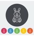Rabbit toy vector image vector image