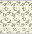 school paper grid alphabet blocks wallpaper design vector image vector image