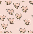 seamless pattern with hearts for valentine s day vector image
