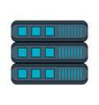servers storage database vector image vector image
