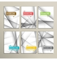 set of brochures Abstract line background vector image