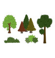 set various tree vector image vector image