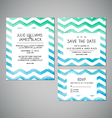 set Wedding invitation cards with watercolor vector image vector image