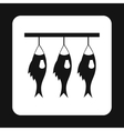 Smoked fish icon simple style vector image vector image