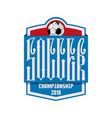 soccer - banner concept inscription ligature vector image vector image