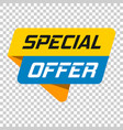 special offer banner badge icon on isolated vector image
