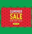 summer sale banner watermelon background vector image vector image