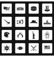 USA icons set in simple style vector image