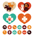 veterinary emblems and signs vector image vector image