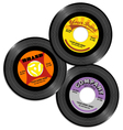 vintage 45 record label designs 2 vector image vector image