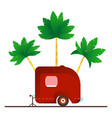 vintage camping trailer travel vector image