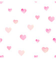 watercolor seamless pattern with hearts vector image vector image