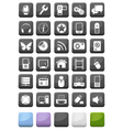 Web icons and multimedia buttons set vector | Price: 1 Credit (USD $1)