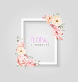 white floral celebration frame vector image vector image