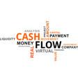 word cloud - cash flow vector image vector image