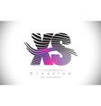 xs x s zebra texture letter logo design with vector image vector image