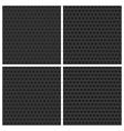 Seamless Metal Backgrounds Set vector image