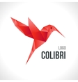 Triangle polygonal red colibri vector image