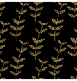 gold seamless pattern floral texture with vector image