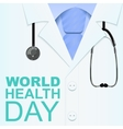 7 April World Health Day Text for greeting card vector image