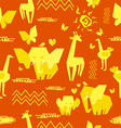 africa seamless pattern vector image vector image