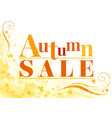 autumn sale background with falling maple leaves vector image vector image