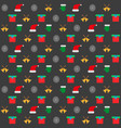 background with christmas icons on a black vector image vector image