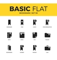 Basic set of bookmark icons vector image vector image
